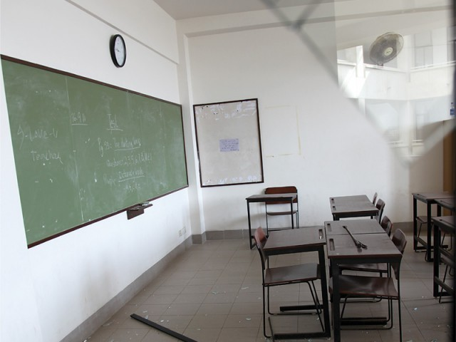 illegal space locals piqued over functioning of schools in cantt