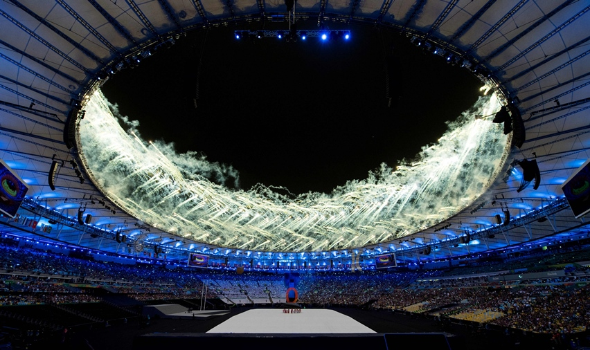 performers operate a dummy during the opening ceremony of the rio 2016 paralympic games at the maracana stadium in rio de janeiro on september 7 2016 photo afp
