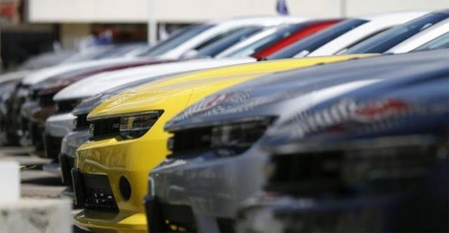 a group of chevrolet camaro cars for sale is pictured at a car dealership in los angeles california photo reuters