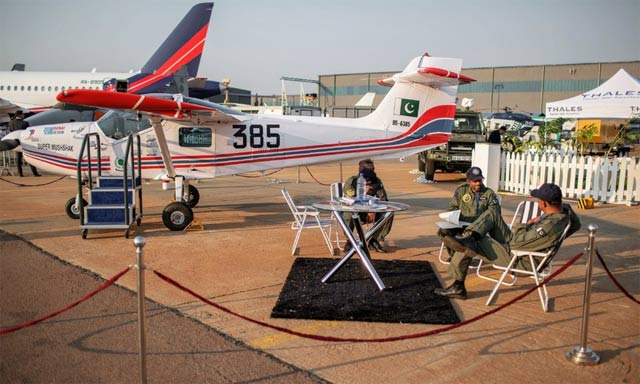 pakistan built super mushshak gets attraction in african aerospace defence exhibition