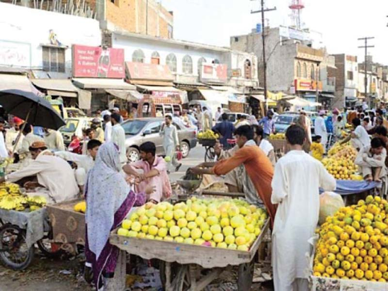 persistent problem encroachers back to business on rawalpindi roads