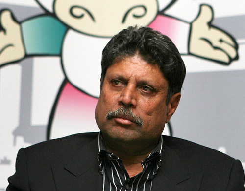 Kapil Dev did not hold his emotions back when asked about non-inclusion of Pakistan. PHOTO: AFP