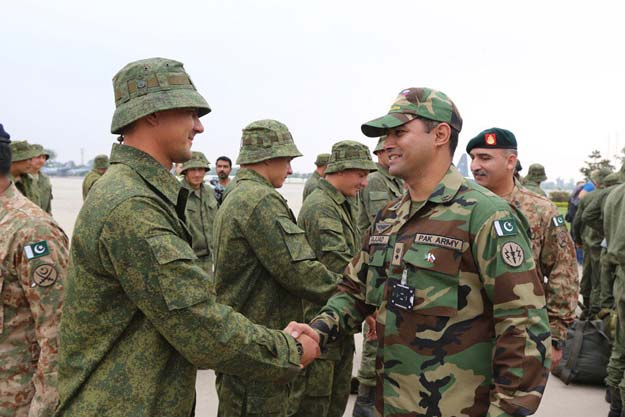 The Russian troops will be in the country for two weeks from Sep 24 to October 10 PHOTO: ISPR