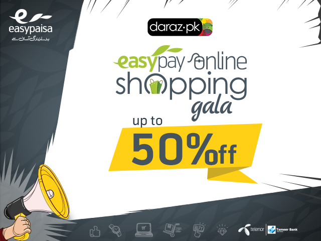 easypay and daraz pk bring the easypay online shopping gala offering the best deals and discounts on the internet
