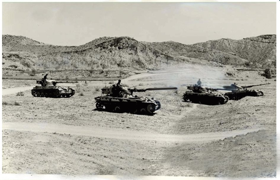 an operational squadron of pakistani tanks on the move photo inter services public relations