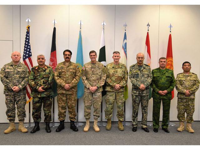 commander us centcom chiefs of armies of pakistan afghanistan kazakhstan kyrgyz republic tajikistan turkmenistan and uzbekistan at conference held at stutgart germany photo ispr