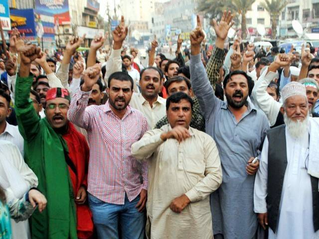 up in arms multan traders protest surge in robberies