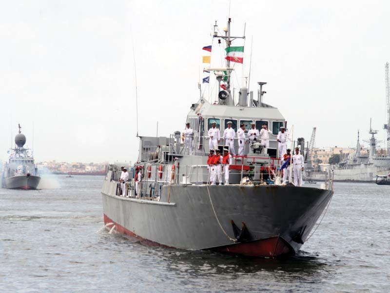 iranian flotilla arrives at karachi port for a three day visit photo online