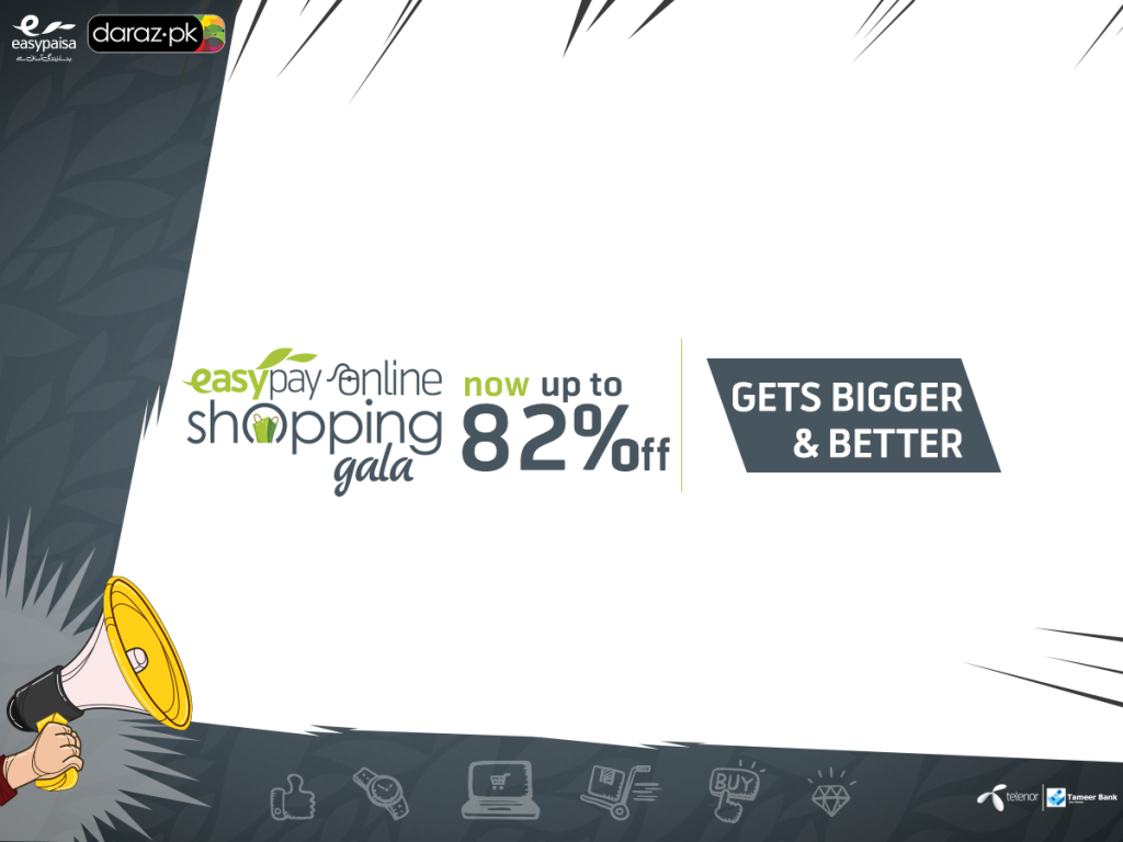 online shopping gala by easypay daraz pk gets five times hotter today