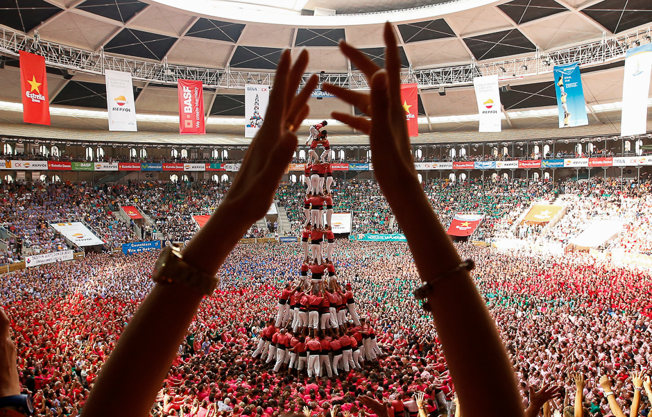 in pictures spain s human tower competition
