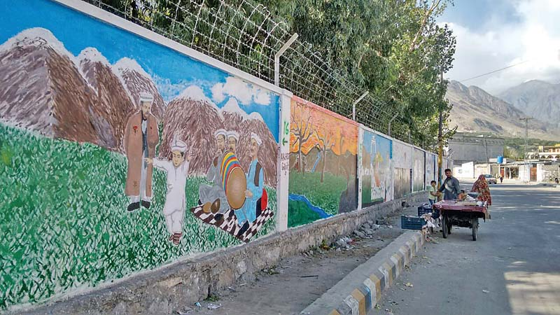 lifeless gilgit walls turned into canvases