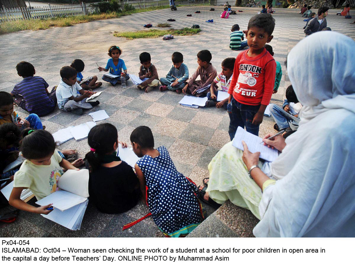 the report stated that 67 per cent of grade v students can read a story in urdu in private schools compared to the 52 per cent in government schools photo online