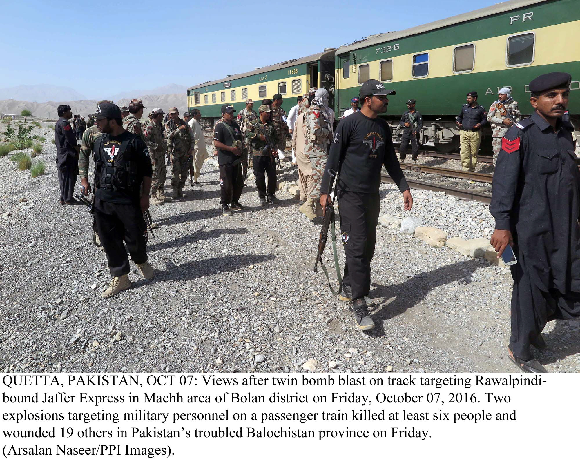After the twin bombing Pakistan Railway has toughened security and deployed more Railway and FC personnel while Punjab-bound trains have started operating between the two provinces PHOTO: PPI