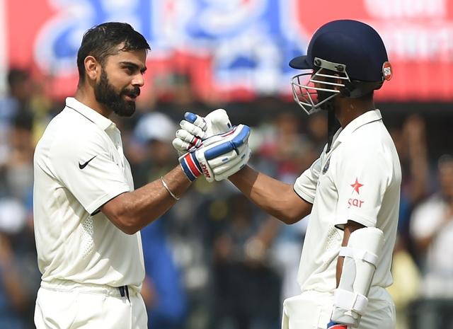 kohli rahane lead india s dominance against nz
