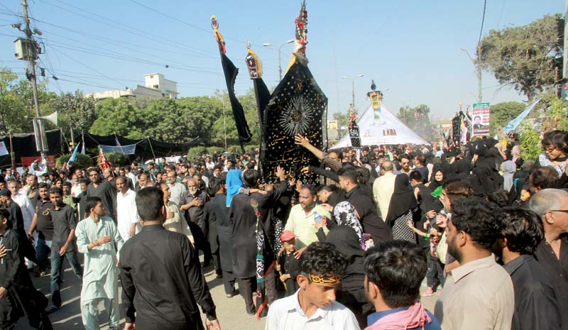 amid tight security muharram 9 procession culminates peacefully