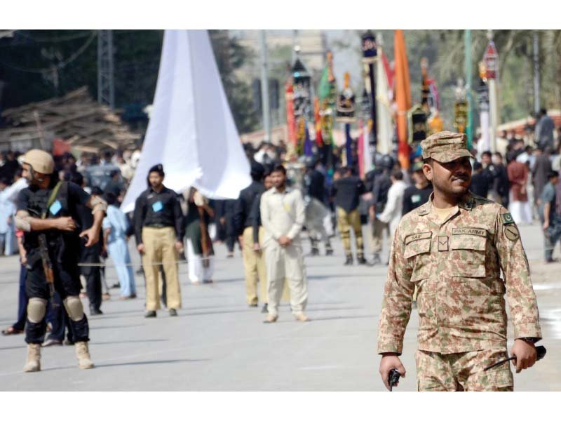 amid security peshawar processions conclude peacefully