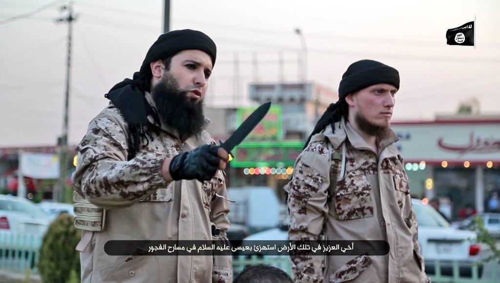 illustrative picture screengrab of footage of terrorsim videos