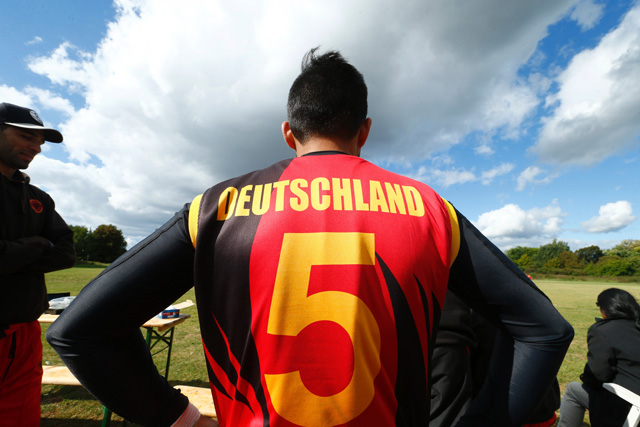 afghan cricket player hamid wardak attends an a vs b match on october 2 2016 in frankfurt a boom of interest in cricket in germany fuelled by the influx of asylum seekers from pakistan and afghanistan is a tale poised to hit the silver screen photo afp