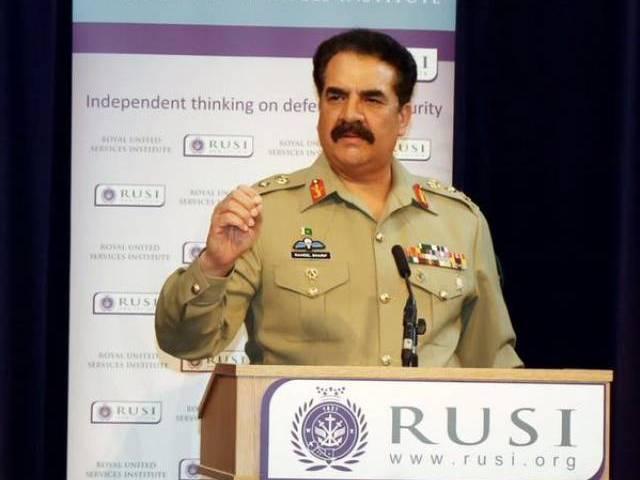 A file photo of army chief General Raheel Sharif. PHOTO: ISPR