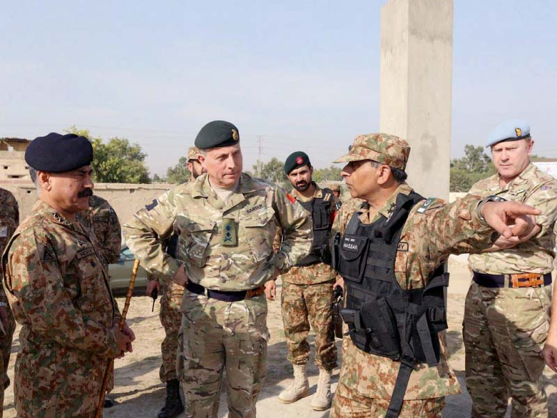 gen carter is briefed about pakistan army successes in north waziristan photo inp