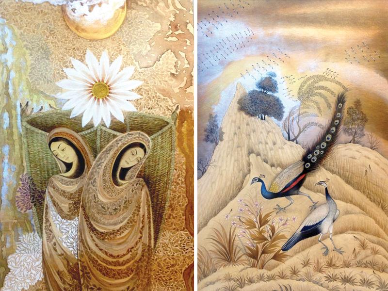 on display hn kazmi showcases his miniature paintings