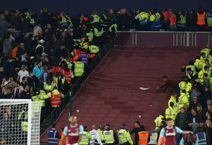 west ham vow to ban fans after violence