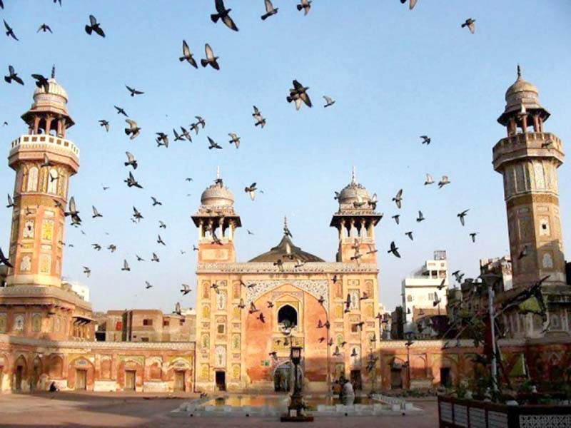 northern fa ade wazir khan mosque s partial renovation completed