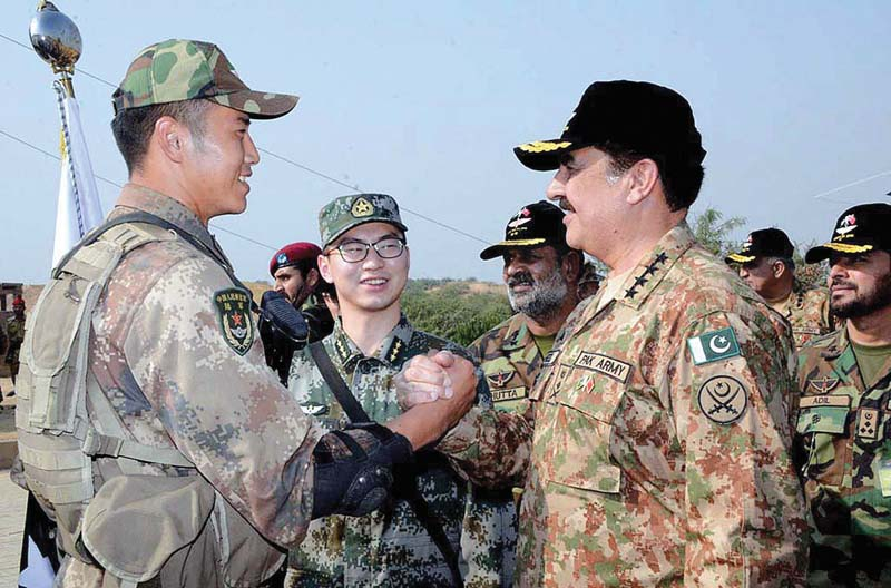 counterterror exercise gen raheel witnesses joint drill with chinese forces