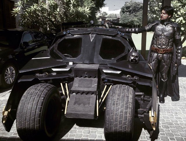 pakistani builds his own batmobile to prove he is the biggest batman fan
