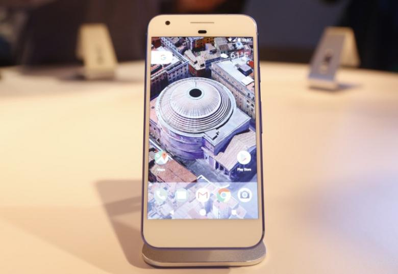the google pixel phone is displayed during the presentation of new google hardware in san francisco photo reuters
