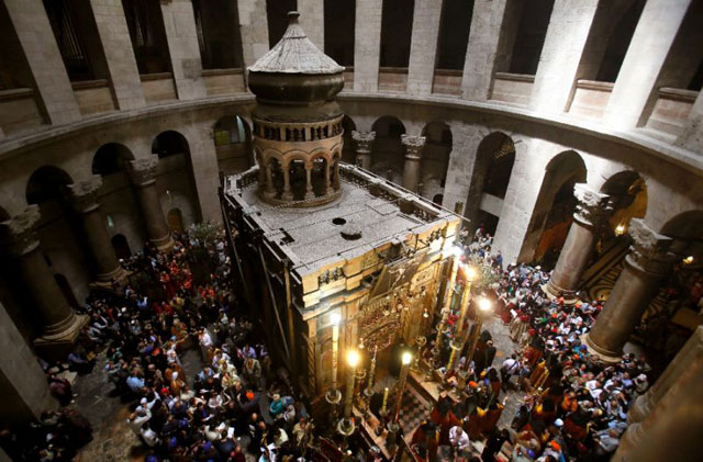 Church of the Holy Sepulchre in Jerusalem's Old City.  PHOTO: Reuters