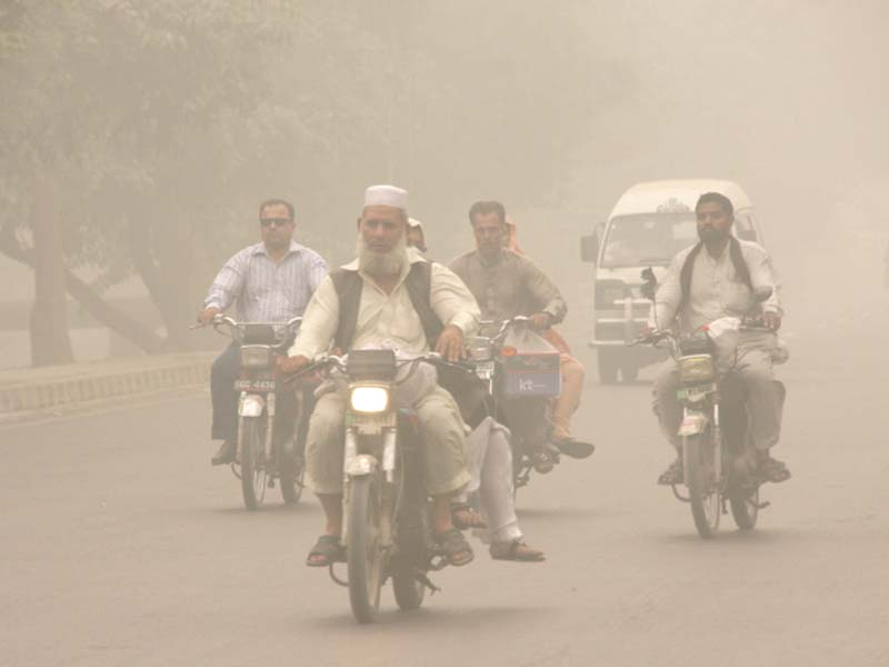return of the smog toxic air continues to choke parts of lahore