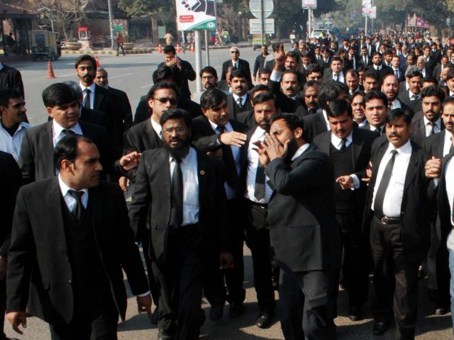 on a different page rawalpindi lawyers boycott lhc s 150 year celebrations