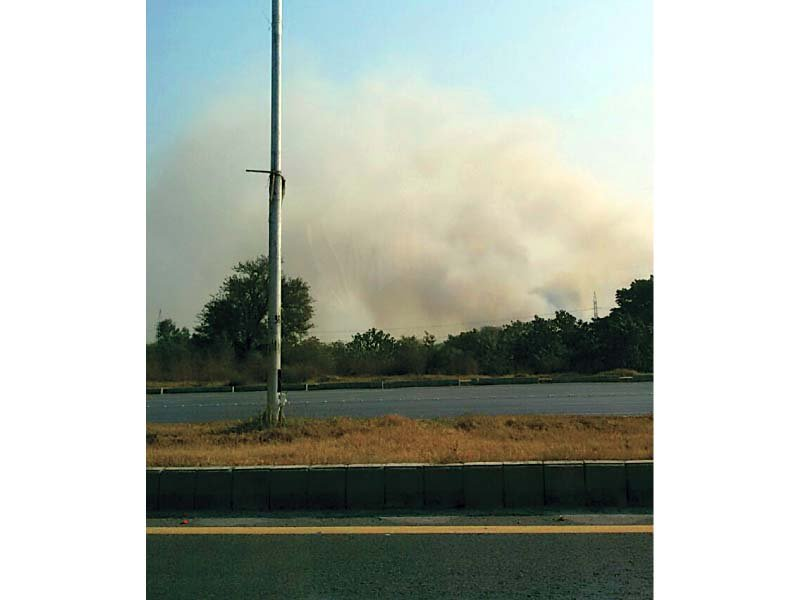 bushfire smoke out on the highway