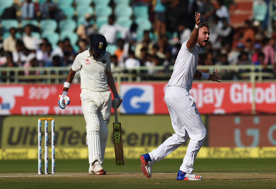 injured broad doubtful for third test against india