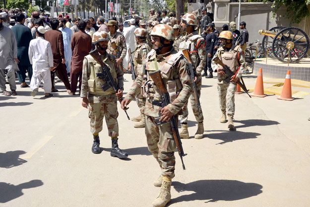 escalating violence fc man gunned down three corpses found in balochistan