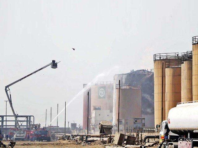 flames of fury fire still burning at kpt oil terminal