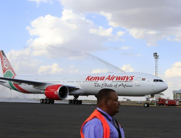 kenya airways boeing 777 300er aircraft with a sitting capacity of 400 passengers arrives at the jomo kenyatta international airport in nairobi october 25 2013 reuters noor khamis