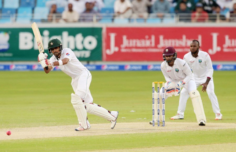 Babar Azam has an average of 46.40 after just three Tests. PHOTO: AFP