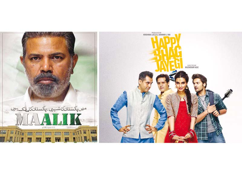 Maalik and Happy Bhaag Jaayegi were two of the films banned by Pakistani censor boards. PHOTOS: FILE