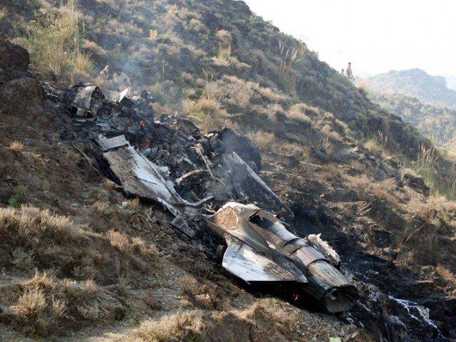 File photo of a plane crash. PHOTO: AFP