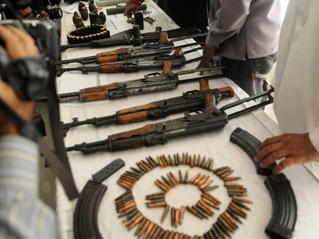 on a tip off weapons recovered