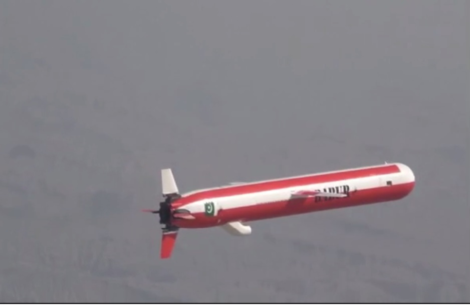 The indigenously designed missile has certain stealth features and is capable of carrying warheads. PHOTO: ISPR