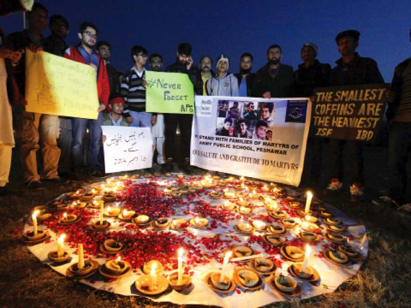 mqm pti hold separate events to pay tribute to aps victims
