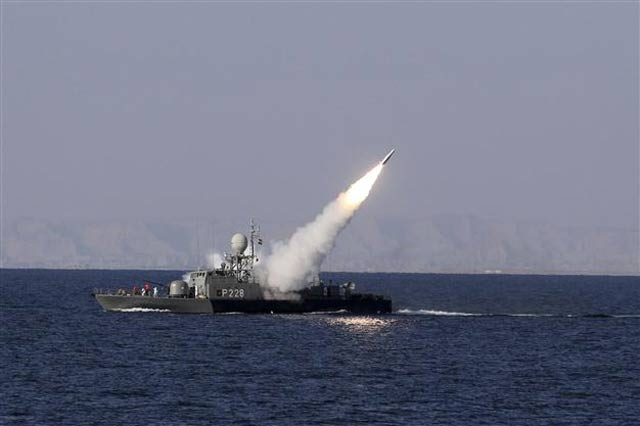 Chief of Naval Staff Admiral Muhammad Zakaullah witnesses launch of Surface to Surface Anti-ship missile. PHOTO: REUTERS