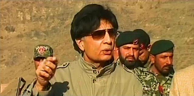Interior Minister Chaudhry Nisar. AN EXPRESS NEWS SCREENGRAB