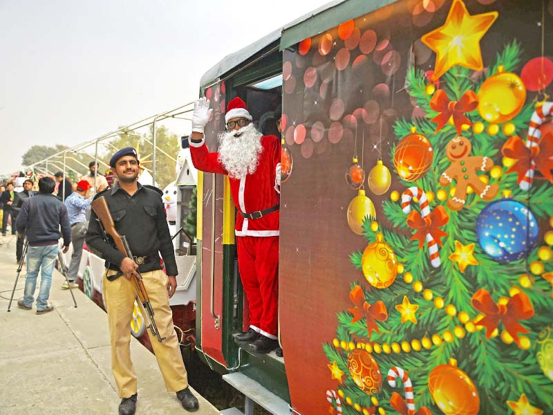 to spread harmony train carrying message of peace chugs off