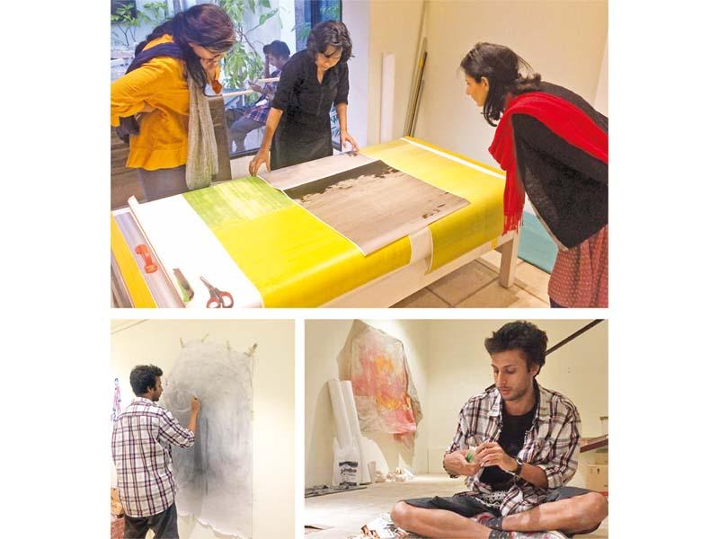 artists at work koel gallery turns space into art studio