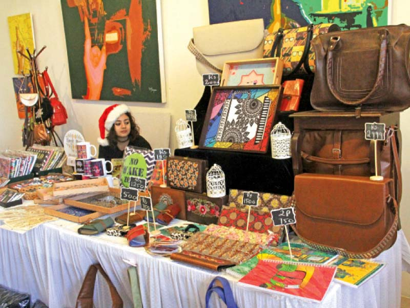 The show showcased a myriad of crafts by various artisans, which included pottery, hand embroidered table linens, jewellery and bags. PHOTO: AYESHA MIR/EXPRESS