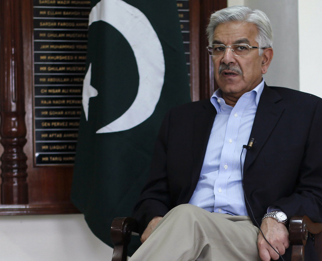 Defense Minister Khawaja Asif PHOTO: REUTERS